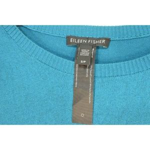 Eileen Fisher Sweaters - Eileen Fisher sweater SZ S teal crew neck dropped